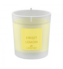 Scented Candle in Glass, small - Lemon