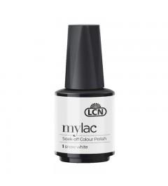 myLac Soak-off Colour Polish, 10 ml - snow white