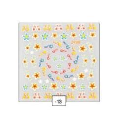 3-D Nail Sticker - winter stars