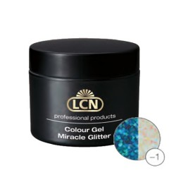 Colour Gel Miracle Glitter 5 ml - Tourquoise glitter