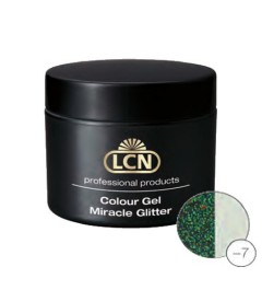 Colour Gel Miracle Glitter 5 ml - Green glamour shimmer