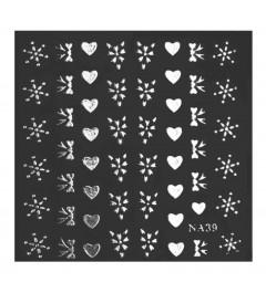 Nail Art sticker - Small Hearts & Bows
